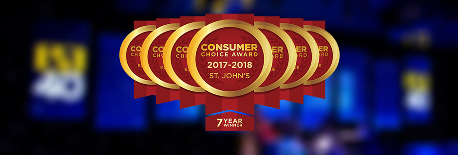 Consumer Choice Award for Business Excellence. 6th consecutive year.
